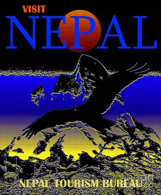 Car Photos Douglas Pittman - Visit Nepal Eagle travel poster by David Lee Thompson