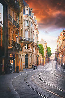 Comic Character Paintings - Vital Carles Street Bordeaux France  by Carol Japp