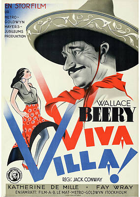 Mixed Media Royalty Free Images - Viva Villa poster 1935 Royalty-Free Image by Stars on Art