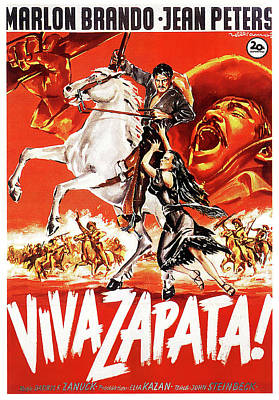 Royalty-Free and Rights-Managed Images - Viva Zapata 2, with Marlon Brando and Jean Peters, 1952 by Stars on Art
