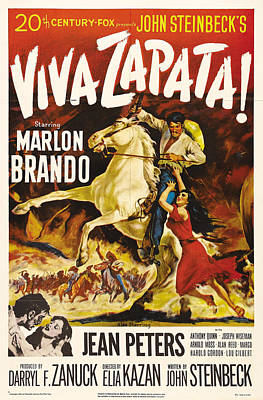 Mixed Media Royalty Free Images - Viva Zapata, with Marlon Brando and Jean Peters, 1952 Royalty-Free Image by Stars on Art