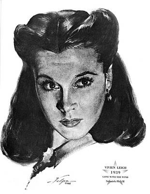 Drawings Royalty Free Images - Vivien Leigh 2 by Volpe Royalty-Free Image by Stars on Art