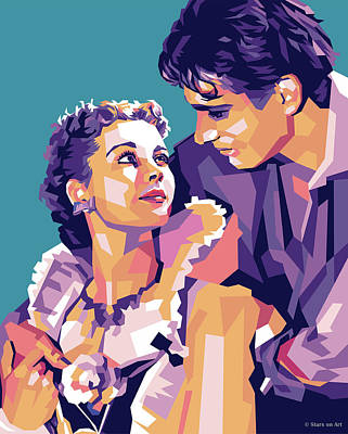 Stone Cold - Vivien Leigh and Laurence Olivier by Stars on Art