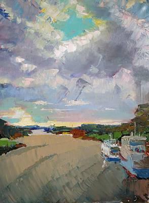 Painting - Volga in Kimry by Nina Silaeva