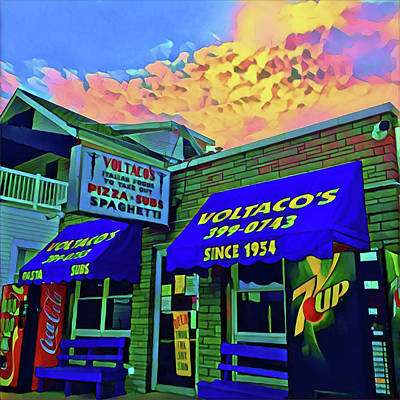 Surrealism Royalty-Free and Rights-Managed Images - Voltacos Ocean City by Surreal Jersey Shore