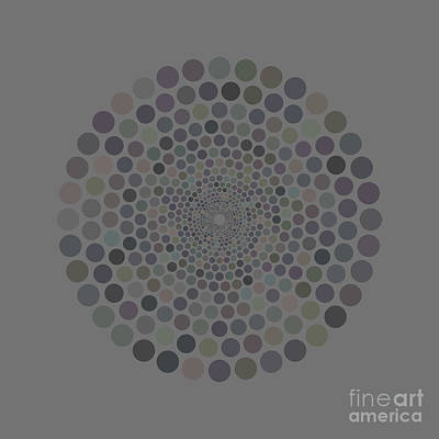 Abstract Trees Mandy Budan - Vortex Circle - Gray by Hailey E Herrera