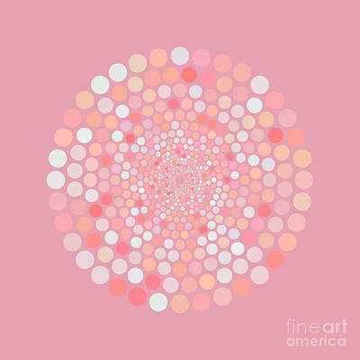 Catch Of The Day - Vortex Circle - Pink by Hailey E Herrera