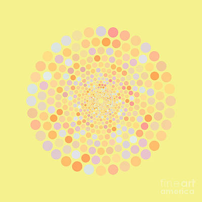 Catch Of The Day - Vortex Circle - Yellow by Hailey E Herrera