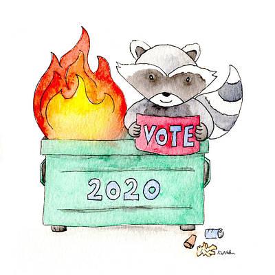 Painting - Vote 2020 by Kim W Nolan