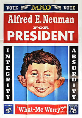 World War 2 Action Photography Royalty Free Images - Vote For Alfred E. Neuman Royalty-Free Image by Ron Long