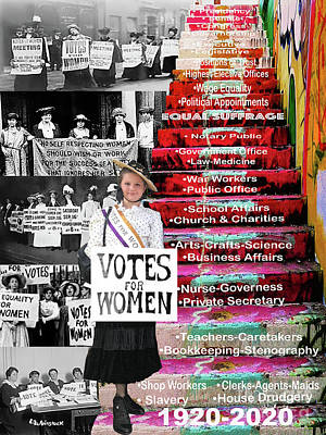 Mixed Media Royalty Free Images - Vote for Women   Royalty-Free Image by Linda Weinstock