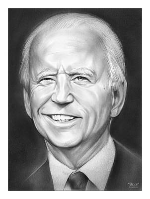 Drawings Royalty Free Images - President Biden Royalty-Free Image by Greg Joens