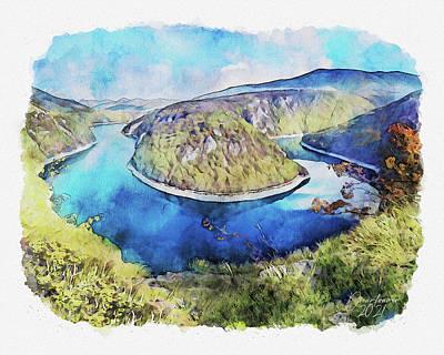 Painting - Vrbas River by Dreamframer Art