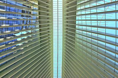 Going Green - W T C Transportation Hub Oculus Interior  by Allen Beatty