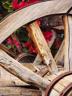 Photograph - Wagon Wheel and Bougainvillea  by Bonny Puckett