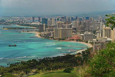 Photograph - Waikiki and Honolulu by Curt Remington