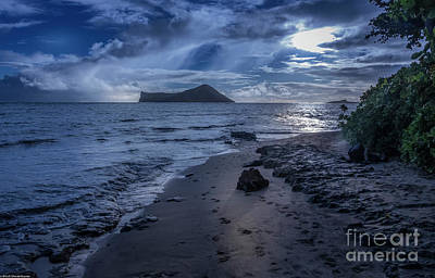 Clouds Royalty Free Images - Waimanalo By Moonlight Royalty-Free Image by Mitch Shindelbower
