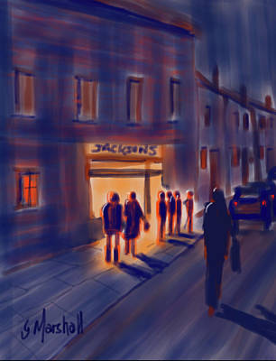 Painting - Waiting at the Chippie by Glenn Marshall