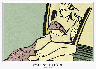 Mixed Media - Waiting for You - Poster by Olivera Cejovic