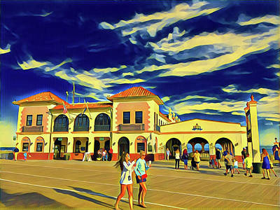 Surrealism Royalty-Free and Rights-Managed Images - Walking on Sunshine by Surreal Jersey Shore