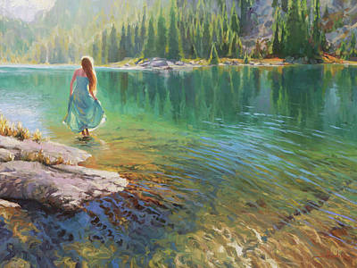 Sports Royalty-Free and Rights-Managed Images - Walking on Water by Steve Henderson
