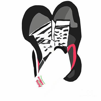 Digital Art - Walking Shoes I  by Aisha Isabelle