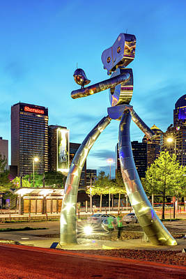 Royalty-Free and Rights-Managed Images - Walking Tall Traveling Man at Dusk - Dallas Texas by Gregory Ballos