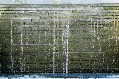 Achieving - Wall Fountain Close-up by George Cole