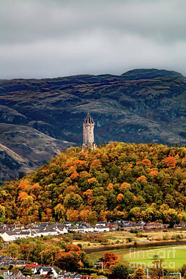 Winter Animals - Wallace Monument with the Ochil Hills by Elizabeth Dow