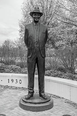 Firefighter Patents Royalty Free Images - Wallace Wade Statue Black and White  Royalty-Free Image by John McGraw