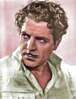 Mans Best Friend - Warner Baxter colorized by Stars on Art