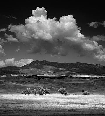 Photograph - Warner Springs Trees Mountains and Clouds by William Dunigan