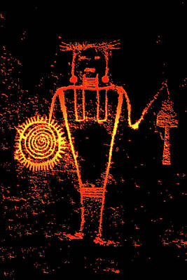 Olympic Sports - Warrior petroglyph McKee Spring Utah by David Lee Thompson