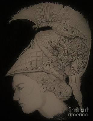 Wine Corks Royalty Free Images - Warrior Priestess Of Athena Royalty-Free Image by Balkishan Jhumat