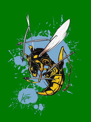 Royalty-Free and Rights-Managed Images - Warrior Wasp by Canine Caricatures Custom Merchandise