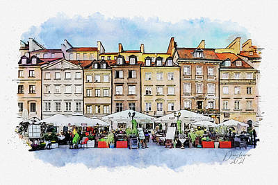 Painting - Warsaw, Old Town by Dreamframer Art