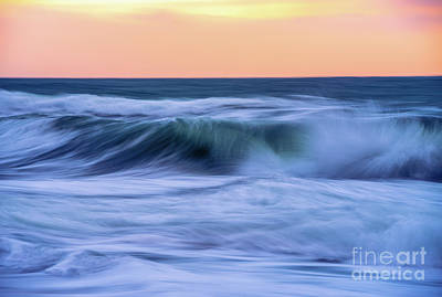 Royalty-Free and Rights-Managed Images - Washington Coast Sunset Waves Motion by Mike Reid