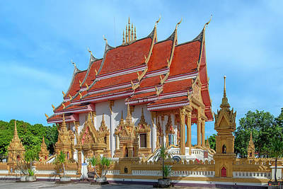 Photograph - Wat Klang Phra Ubosot DTHNP0098 by Gerry Gantt