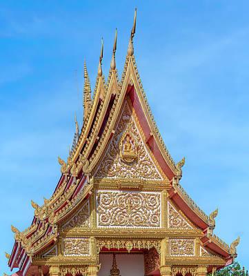 Photograph - Wat Klang Phra Ubosot Gable DTHNP0104 by Gerry Gantt