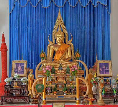 Photograph - Wat Maruk Khanakhon Phra Ubosot Buddha Images DTHNP0033 by Gerry Gantt