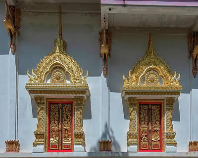 Photograph - Wat Maruk Khanakhon Phra Ubosot Windows DTHNP0041 by Gerry Gantt