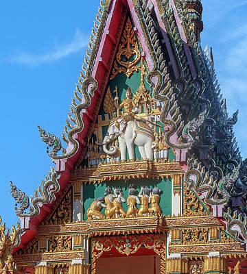Photograph - Wat Phlap Phra Ubosot Gable DTHNR0023 by Gerry Gantt