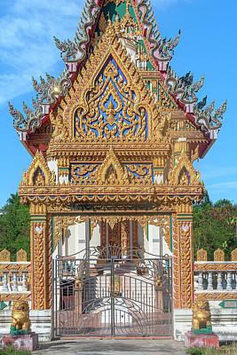 Photograph - Wat Phlap Phra Ubosot Wall Gate DTHNR0021 by Gerry Gantt