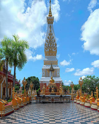 Photograph - Wat Phra That Phanom Phra Chedi and Buddha Images DTHNP0007 by Gerry Gantt