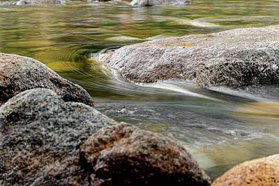 Photograph - Water Curving Around a Stone by William Dickman