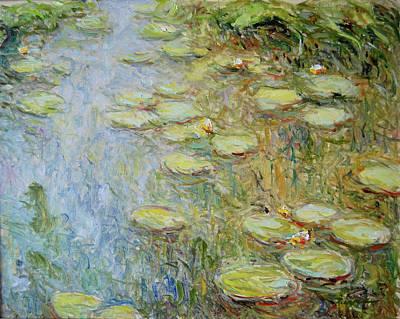 Purely Purple - Water lilies nr E.008 by Pierre Dijk