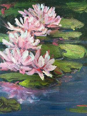 Susan Elizabeth Jones Royalty-Free and Rights-Managed Images - Water Lilies by Susan Elizabeth Jones