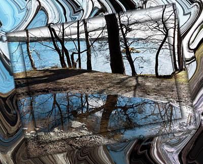 Digital Art - Water Mirror 210321 by Asa Spang Frolund