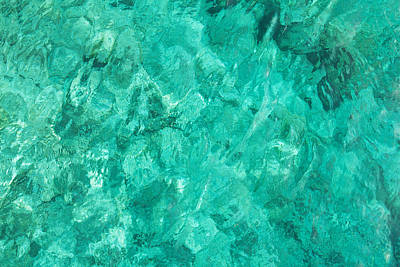 Royalty-Free and Rights-Managed Images - Water sea blue wave turquoise liquid background by Julien