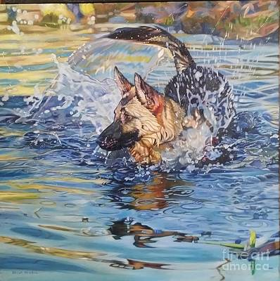 Painting - Water Warrier2 by Kelly McNeil